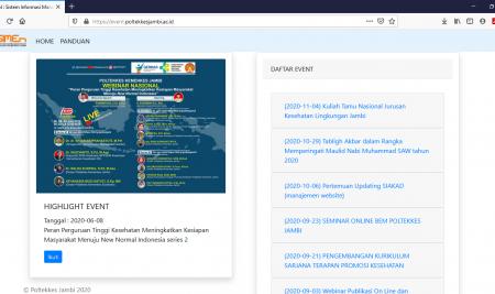SIMEN: Sistem Informasi Manajemen Event Poltekkes Kemenkes Jambi